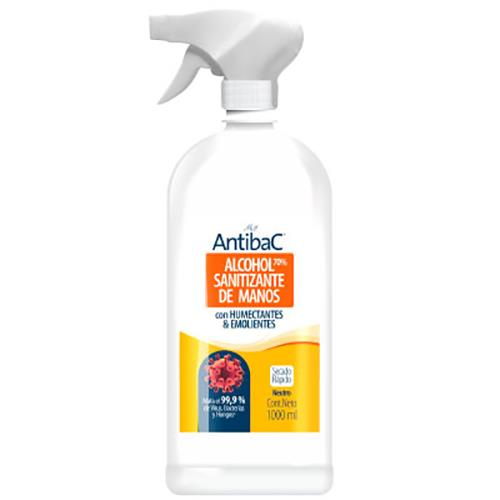 Foto ALCOHOL SANITIZANTE P/MANOS ANTIBAC 1 LT NEUTRO de