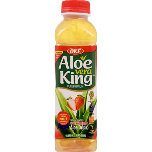 Foto BEBIDA STRAWBERRY 500ML OKF ALOE VERA  de