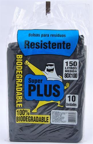 Foto BOLSA PARA RESIDUOS RESISTENTE 150LT 10 UN SUPER PLUS BSA de