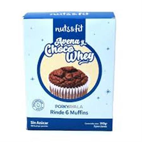 Foto Muffins de Avena y Choco Whey 210gr NUTS FIT N/A x 24 de