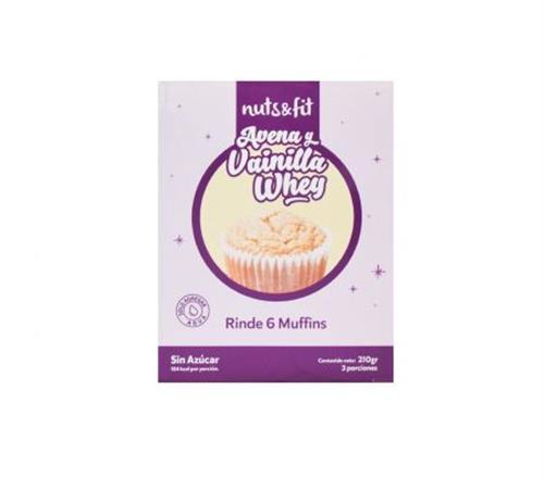Foto Muffins de Avena y Vainilla Whey 210gr NUTS FIT de