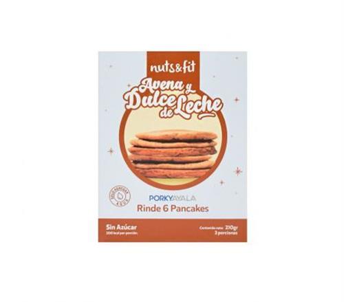 Foto Pancakes de Avena y Dulce de Leche 210gr NUTS FIT de