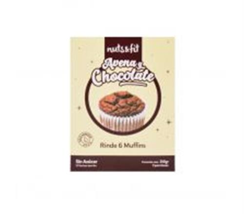 Foto Muffins de Avena y Chocolate 210gr NUTS & FIT de
