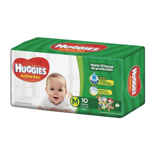 Foto PAÑAL ACTIVE SEC REGULAR M 10UN HUGGIES de
