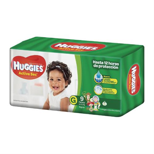 Foto PAÑAL ACTIVE SEC REGULAR G 9UN HUGGIES de