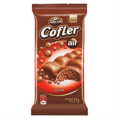 Foto CHOCOLATE TABLETA LECHE COFLER AIR 27GR ARCOR PLA de