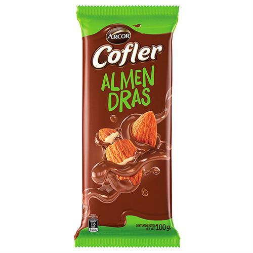 Foto CHOCOLATE TABLETA LEC C/ALMEN COFLER 100GR ARCOR PLAST de