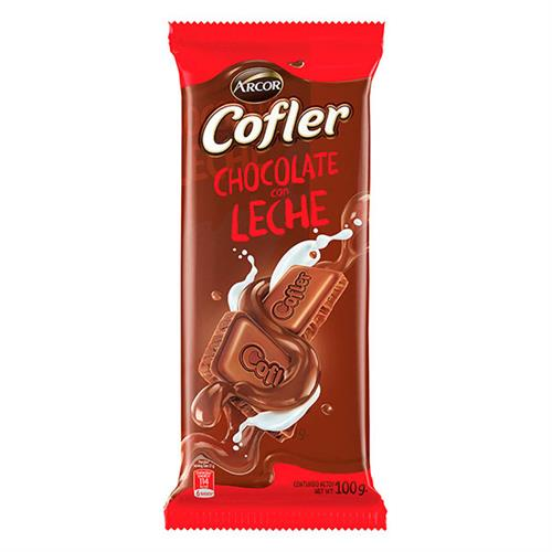 Foto CHOCOLATE TABLETA LECHE COFLER 100GR ARCOR PLA de