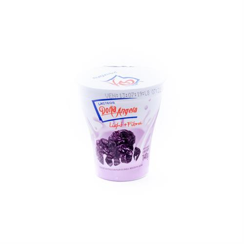 Foto YOGURT DOÑA ANGELA LIGHT FIBRA CIRUELA POTE 140GR de