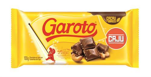 Foto CHOCOLATE C/LECHE C/CASTAÑAS D/CAJU 90GR GAROTO TAB de
