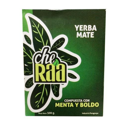 Foto YERBA MATE MENTA Y BOLDO 500 GR CHE RA A CJA  de