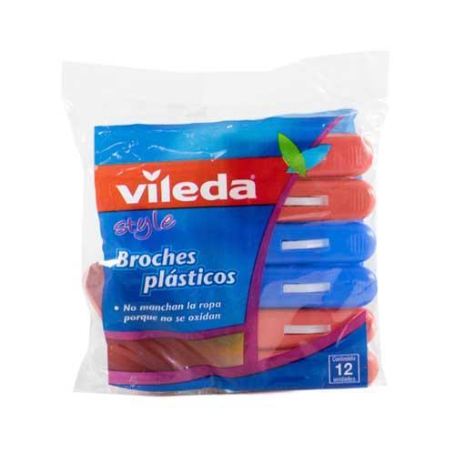 Foto BROCHES PLASTICOS 12UN VILEDA PAQ de