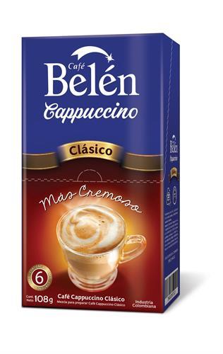 Foto CAFE BELEN CAPPUCCINO CLASICO 108 GR CJA de