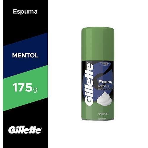 Foto Gillette Foamy Mentol 175 g de