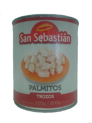Foto PALMITOS E/TROZOS 800GR SAN SEBASTIAN LATA de