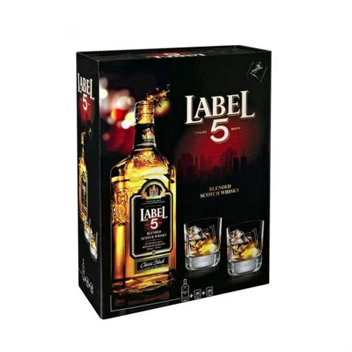 Foto WHISKY BLENDEC SCOTH 700ML LABEL 5 BOT/VASOS de