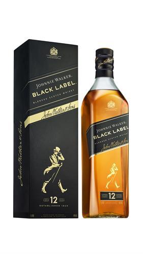 Foto WHISKY JOHNNIE WALKER BLACK LABEL BOTELLA 1LT de