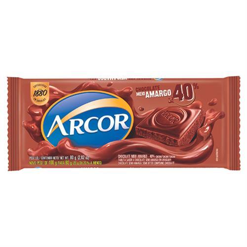 Foto TABLETA D/CHOCOLATE SEMI AMARGO ARCOR 80GR de