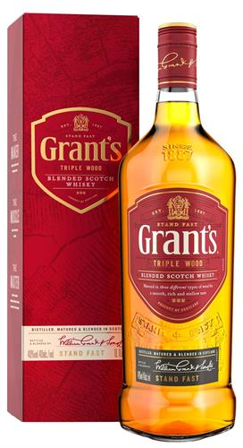 Foto WHISKY GRANTS CON CAJA TUBO CANISTER 750 ML. de