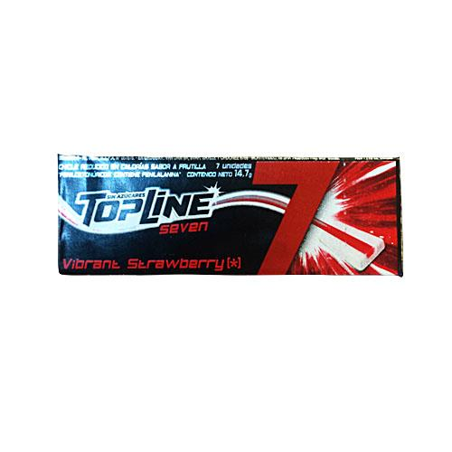 Foto CHICLE TOPLINE SEVEN STRAWBERRY 14.7GR de