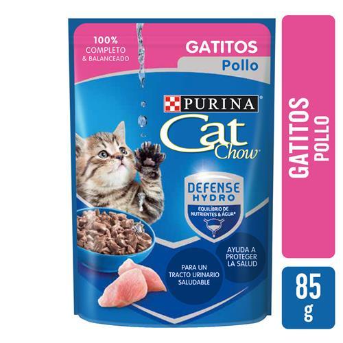 Foto ALIMENTOS HUMEDOS CAT CHOW GATITOS POLLO X 0.85 GR de