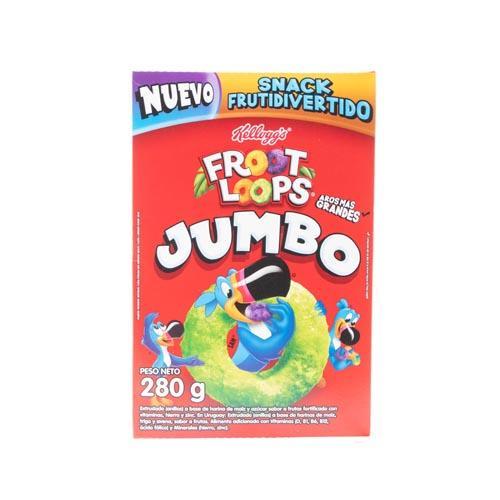 Foto FROOT LOOPS JUMBO CEREAL KELLOGS SABOR FRUTAS 280GR CJA de