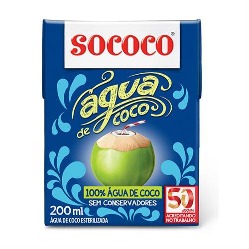 Foto AGUA D/COCO 200ML SOCOCO TETRA de