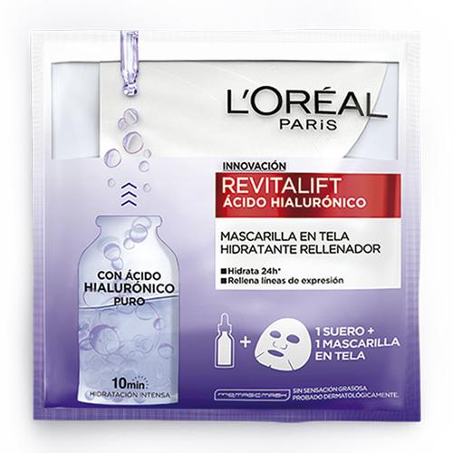 MASCARILLA FACIAL LOREAL REVITALIFT ACIDO HIALURONICO