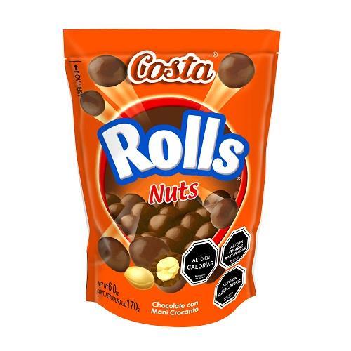 Foto CHOCOLATE BARRA COSTA ROLLS NUTS 170GR de
