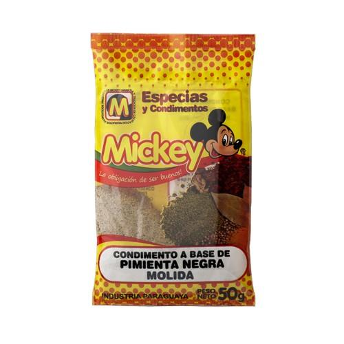 Foto CONDIMENTO A BASE DE PIMIENTA NEGRA MOLIDA MICKEY 50GR de