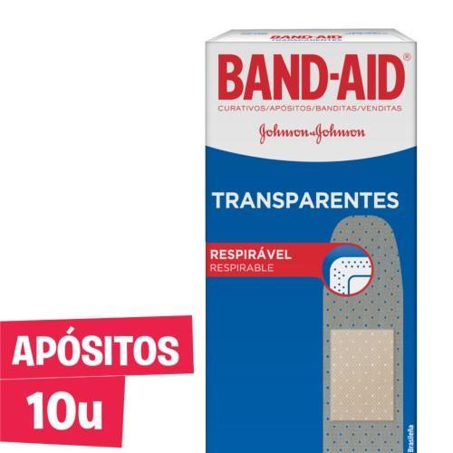 Foto CURITAS TRANSPARENTES BAND AID 10UNID de