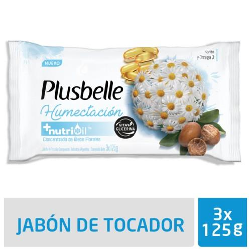 Foto JABON DE TOCADOR HUMECTACION PLUSBELLE 125GR de