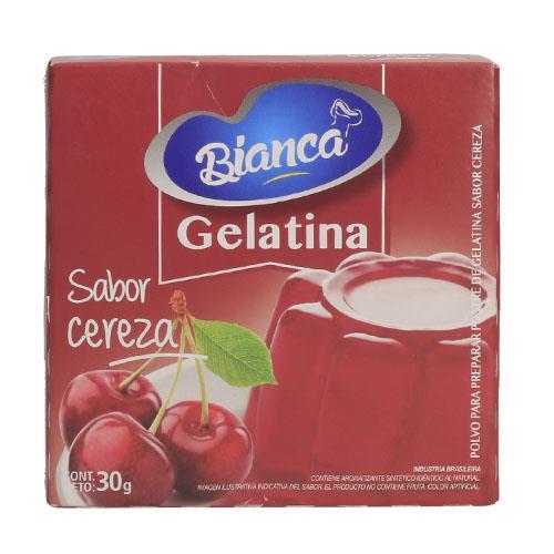 Foto GELATINA SABOR CEREZA BIANCA 30GR de